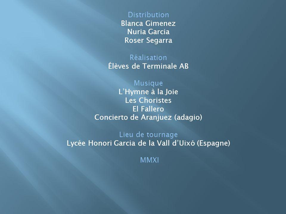 Concierto de Aranjuez (adagio) Lieu de tournage