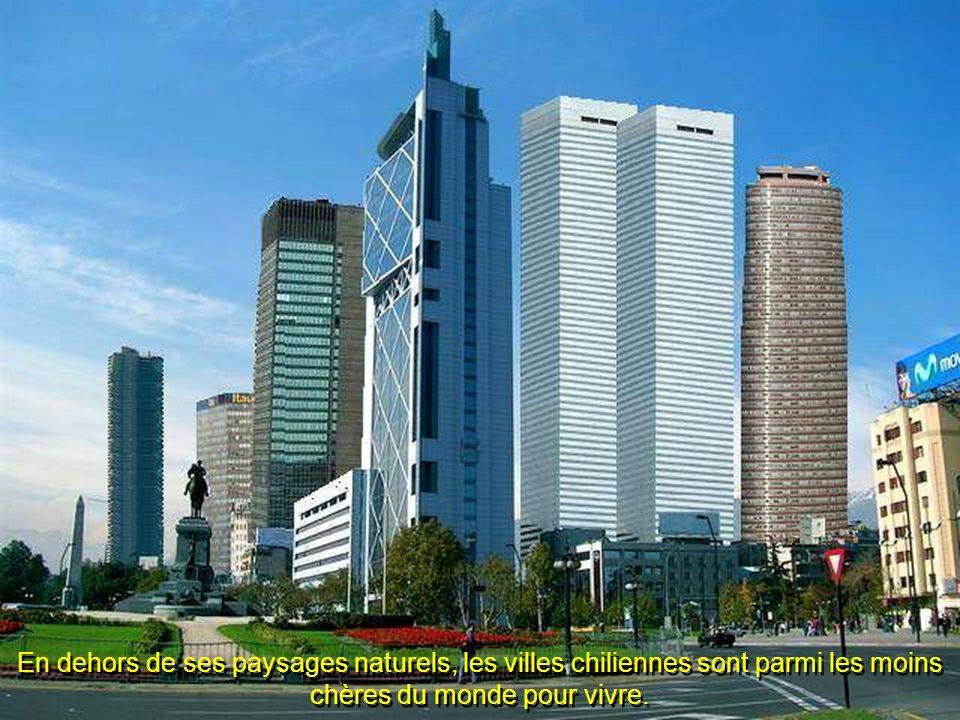 En dehors de ses paysages naturels, les villes chiliennes sont parmi les moins chères du monde pour vivre.