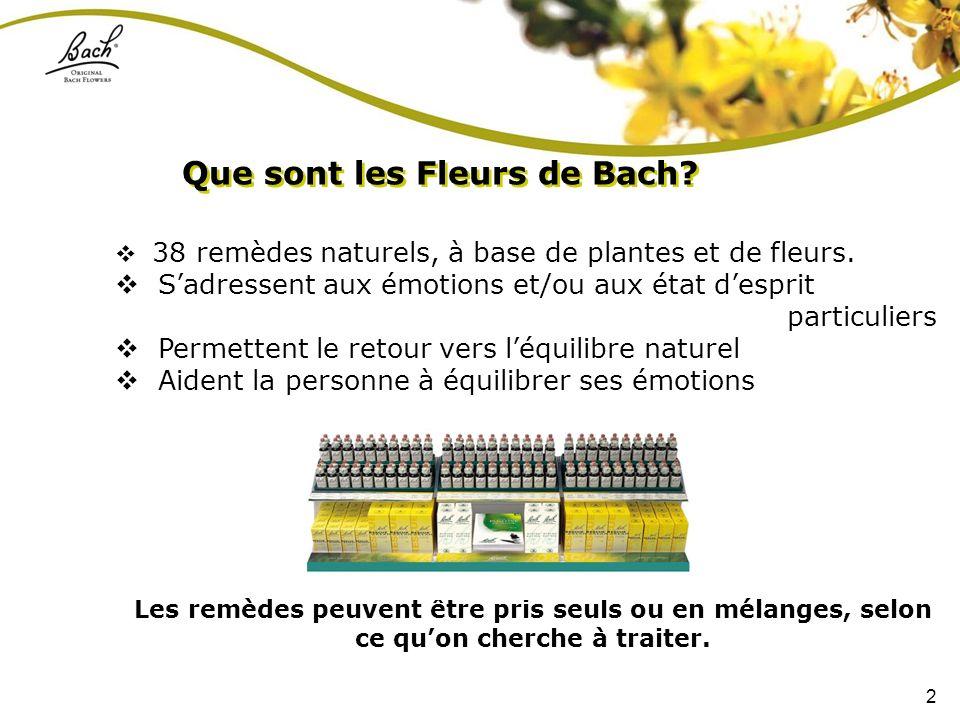 Que sont les Fleurs de Bach