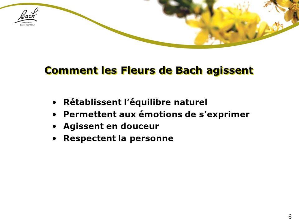 Comment les Fleurs de Bach agissent