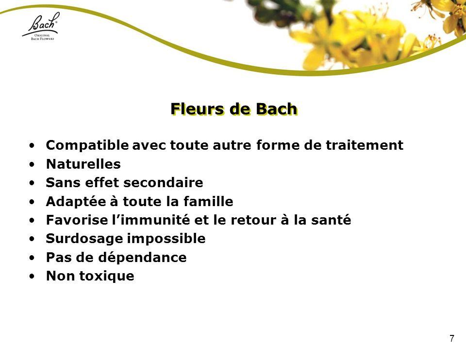 Fleurs de Bach Compatible avec toute autre forme de traitement