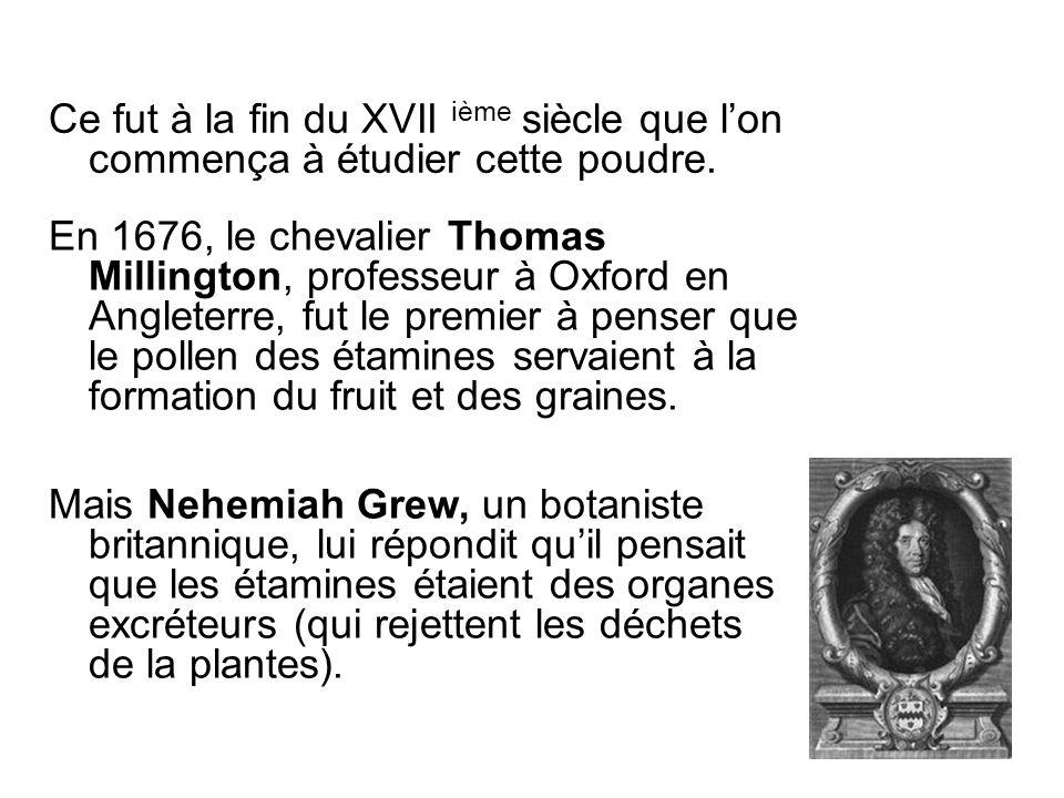 Ce fut à la fin du XVII ième siècle que l'on commença à étudier cette poudre.
