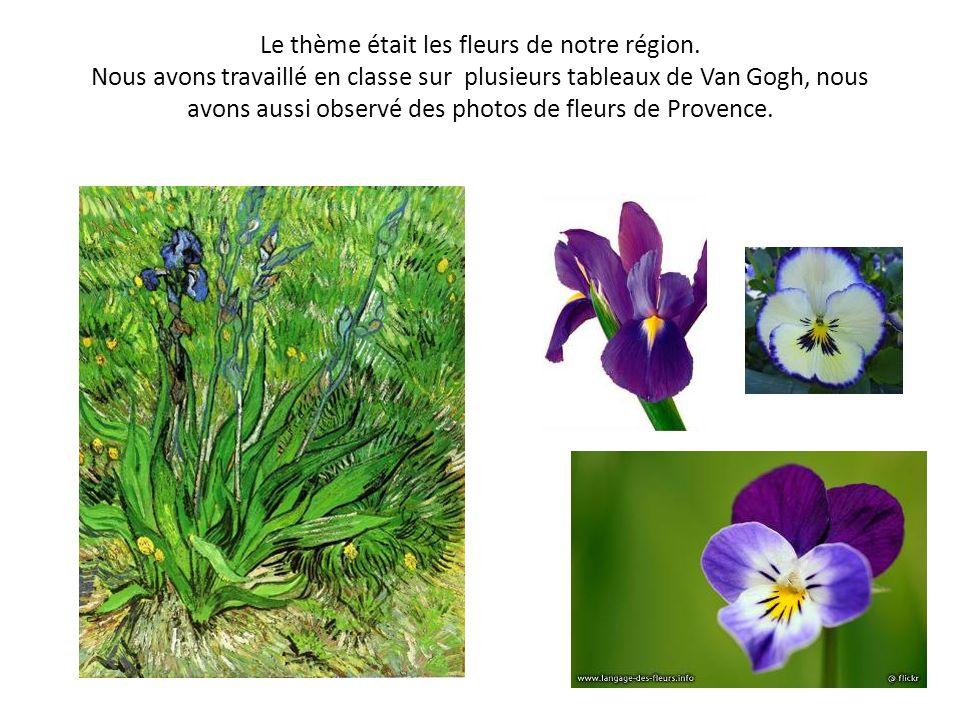 Le thème était les fleurs de notre région