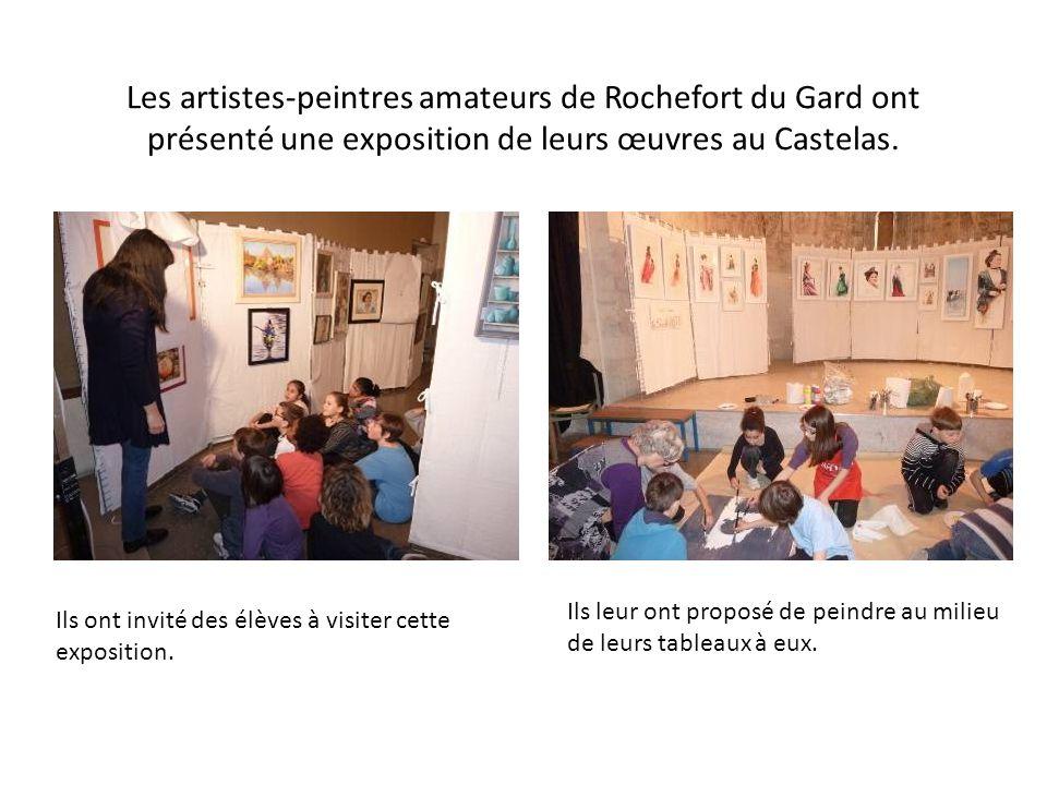 Les artistes-peintres amateurs de Rochefort du Gard ont présenté une exposition de leurs œuvres au Castelas.