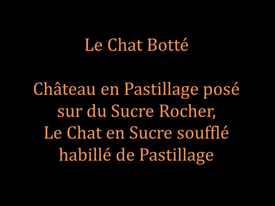 Château en Pastillage posé sur du Sucre Rocher,