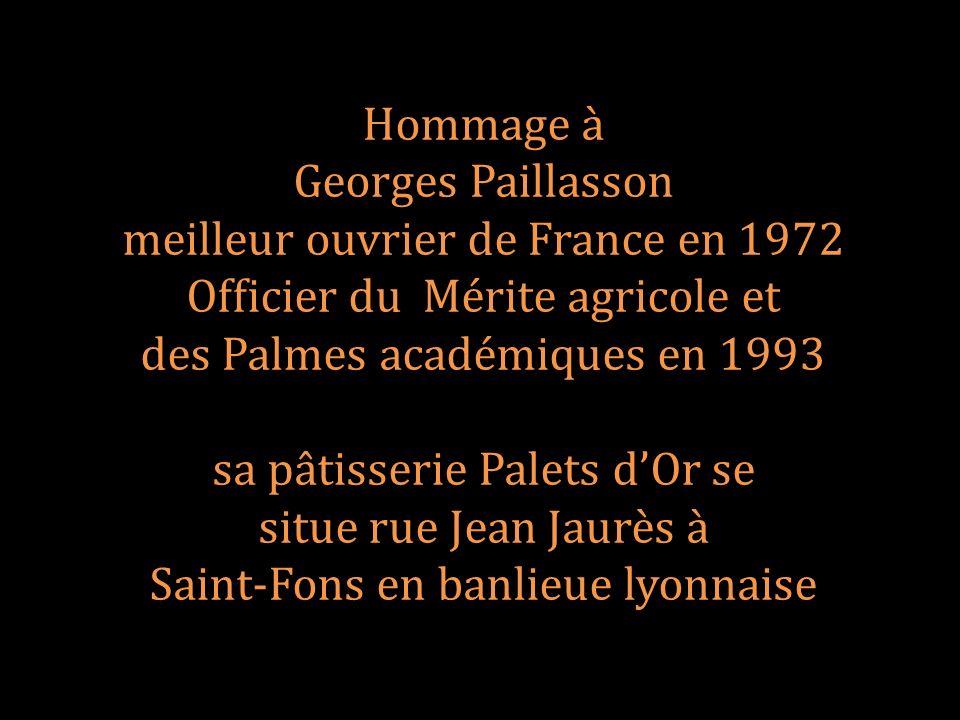meilleur ouvrier de France en 1972 Officier du Mérite agricole et