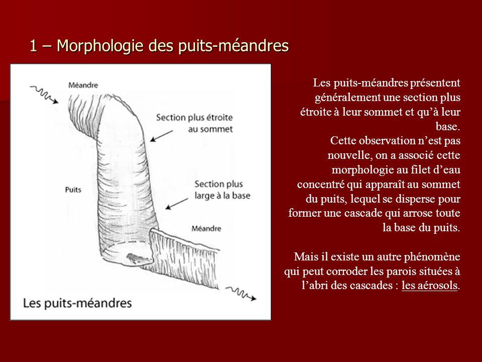 1 – Morphologie des puits-méandres