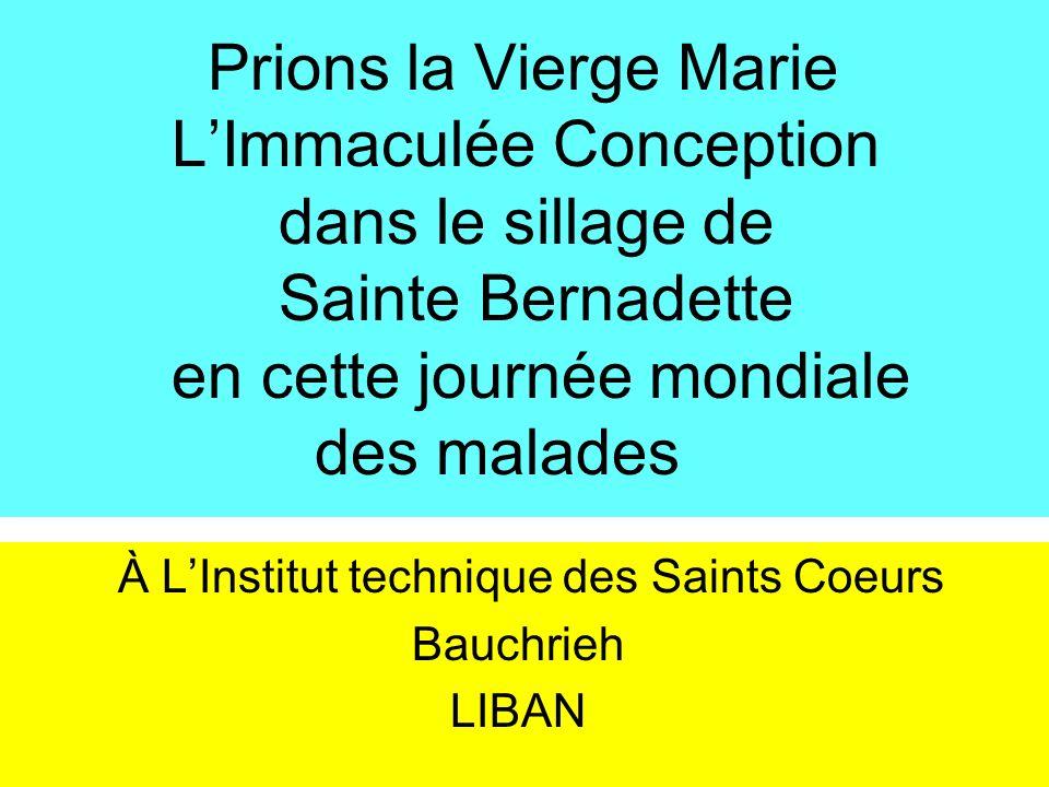 À L'Institut technique des Saints Coeurs Bauchrieh LIBAN