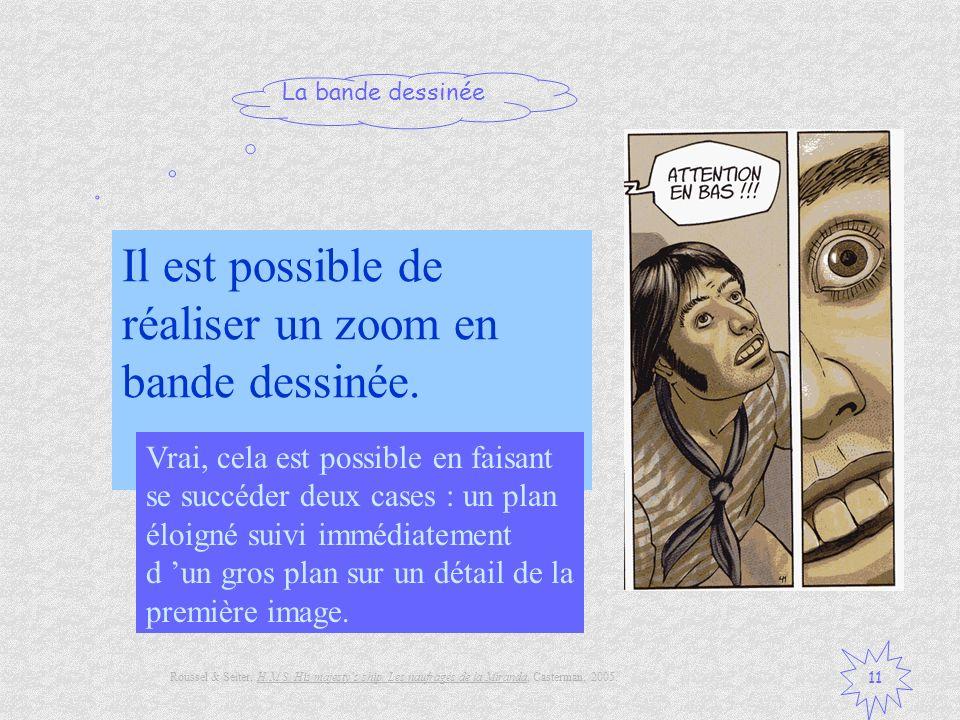 Il est possible de réaliser un zoom en bande dessinée.