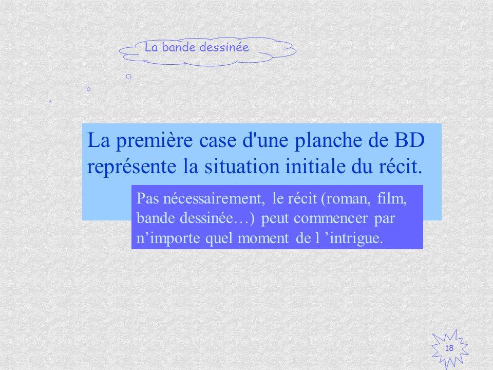 La première case d une planche de BD représente la situation initiale du récit.