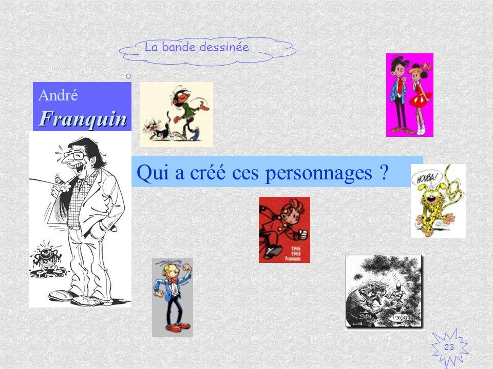 André Franquin Qui a créé ces personnages