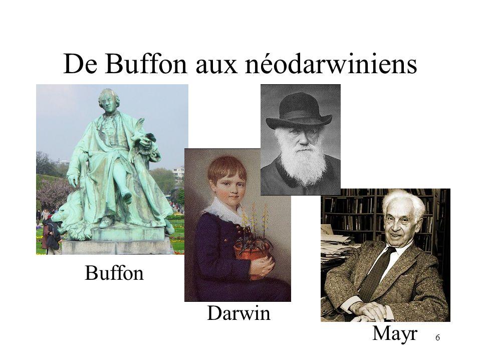 De Buffon aux néodarwiniens