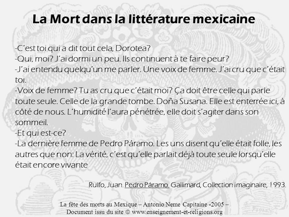 La Mort dans la littérature mexicaine