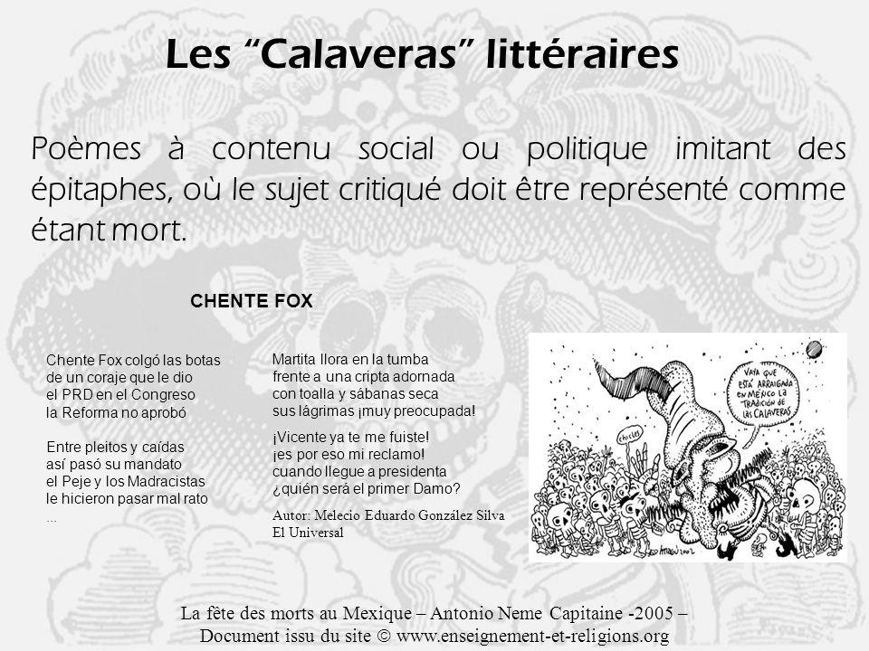 Les Calaveras littéraires