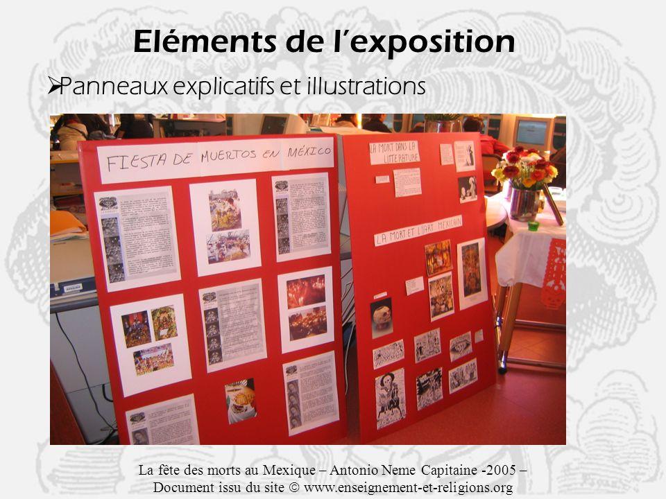 Eléments de l'exposition
