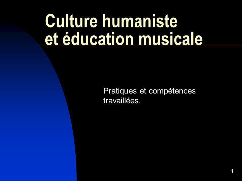 Culture humaniste et éducation musicale