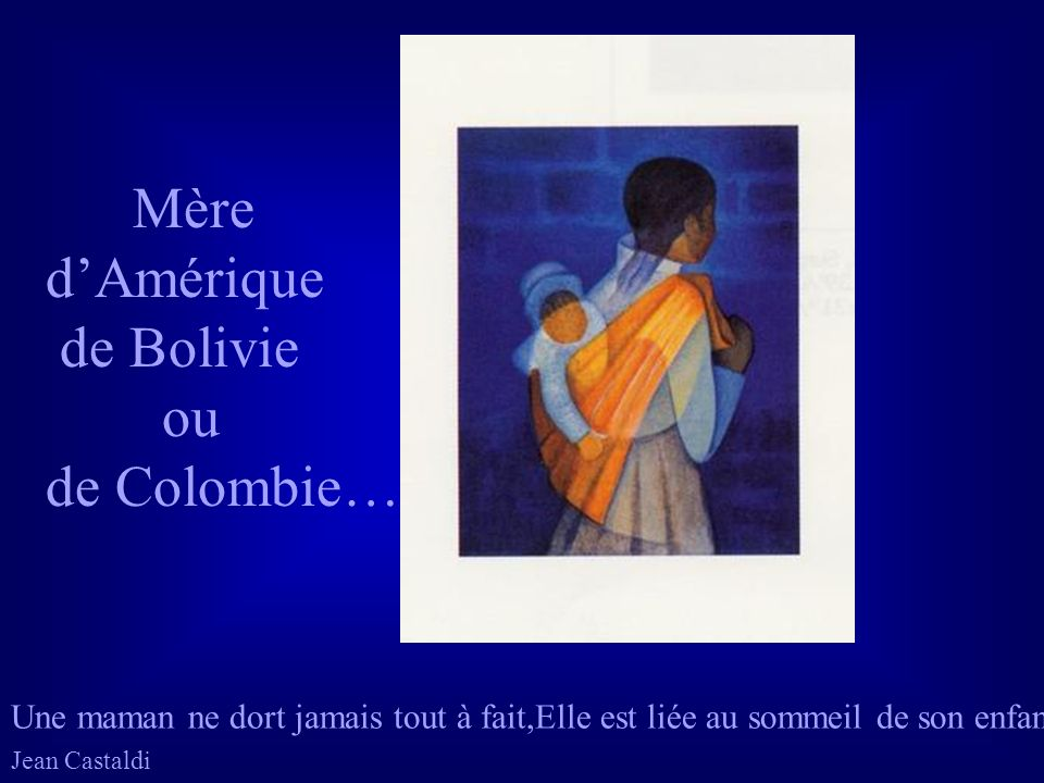 Mère d'Amérique de Bolivie ou de Colombie…