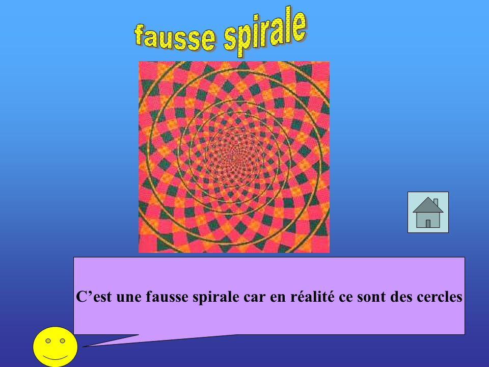 C'est une fausse spirale car en réalité ce sont des cercles