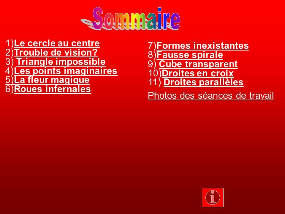 Sommaire 1)Le cercle au centre 7)Formes inexistantes