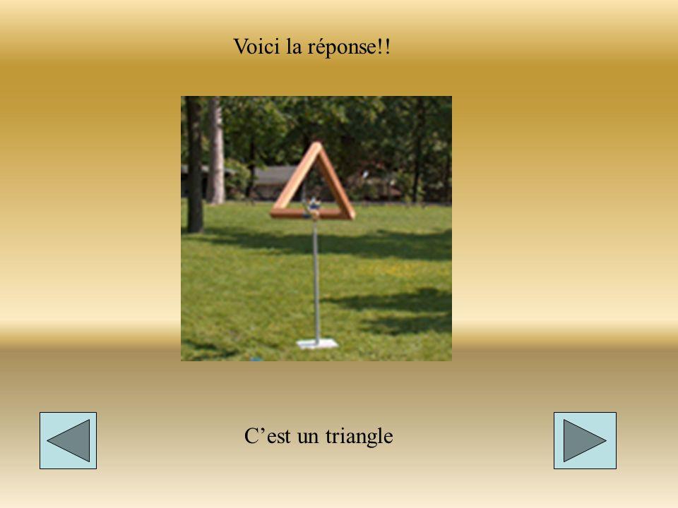 Voici la réponse!! C'est un triangle
