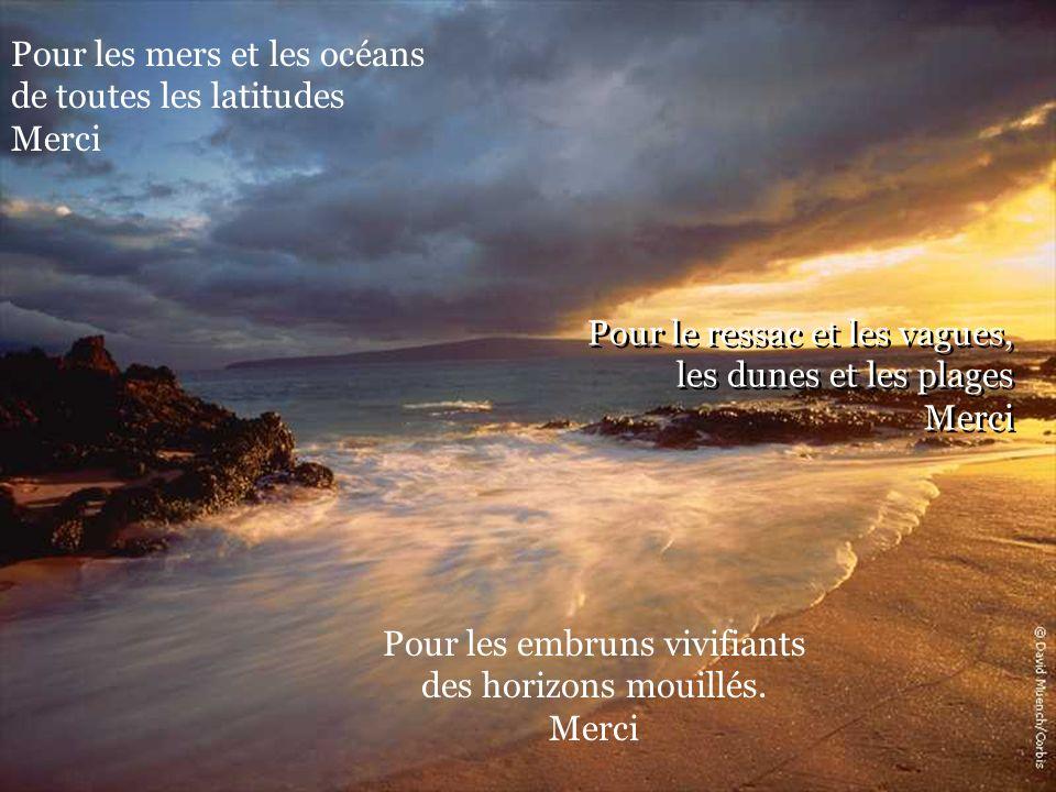 Pour le ressac et les vagues, les dunes et les plages Merci