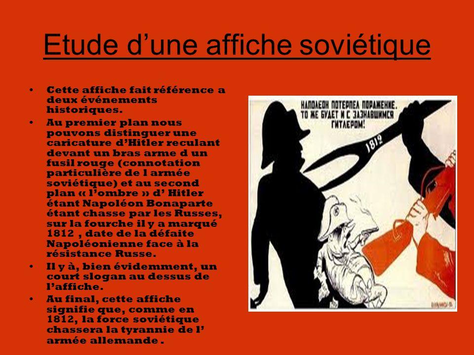 Etude d'une affiche soviétique