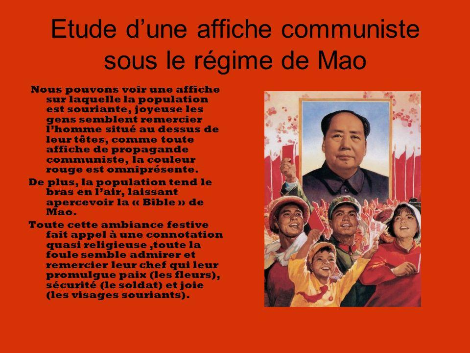 Etude d'une affiche communiste sous le régime de Mao