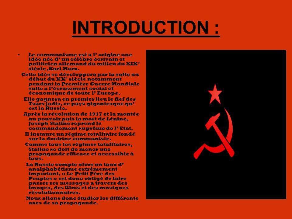 INTRODUCTION : Le communisme est a l' origine une idée née d' un célèbre écrivain et politicien allemand du milieu du XIX° siècle ,Karl Marx.