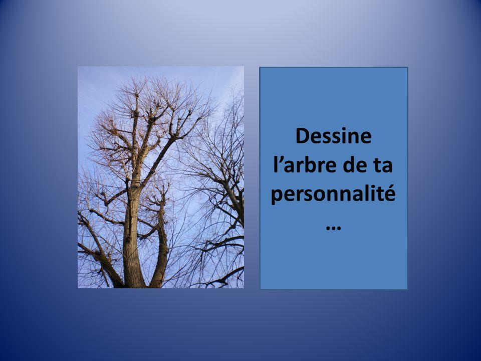 Dessine l'arbre de ta personnalité…