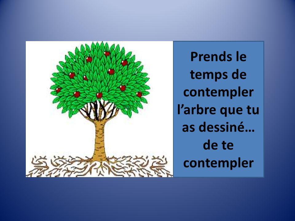 Prends le temps de contempler l'arbre que tu as dessiné… de te contempler
