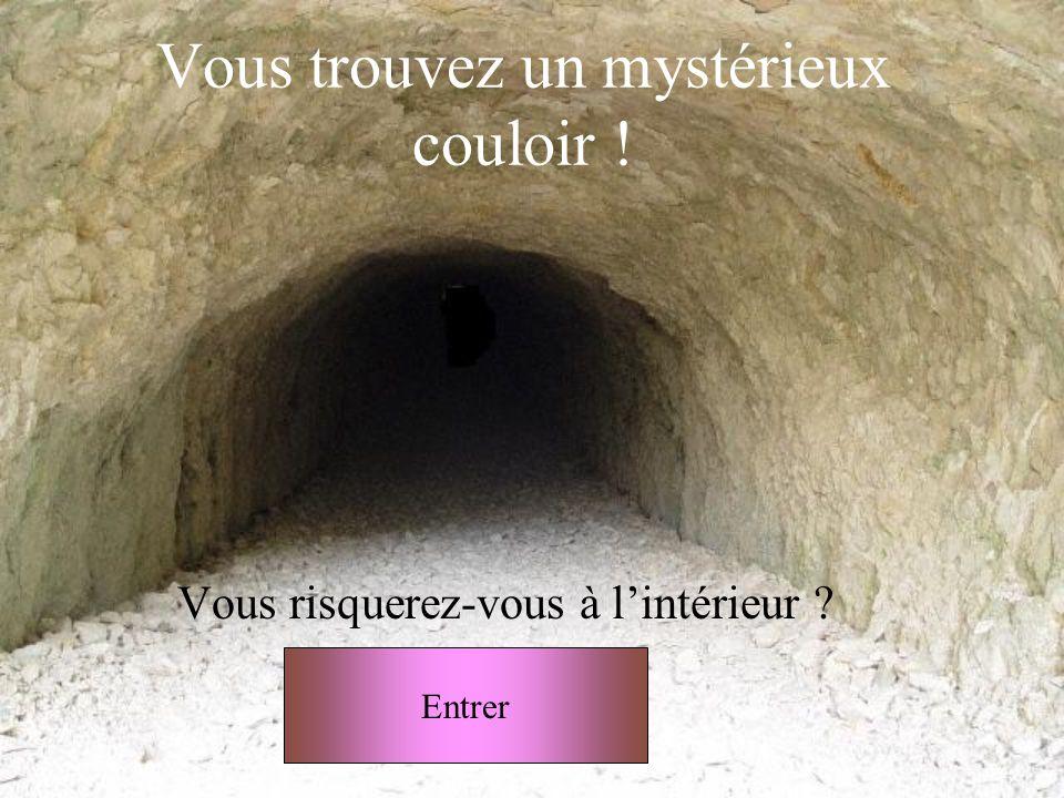 Vous trouvez un mystérieux couloir !