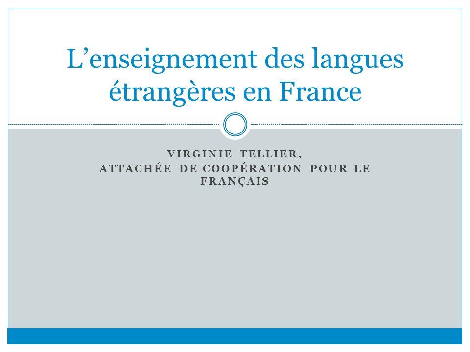L'enseignement des langues étrangères en France