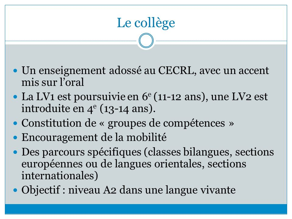 l u2019enseignement des langues  u00e9trang u00e8res en france