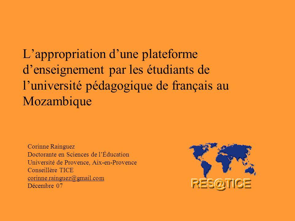L'appropriation d'une plateforme d'enseignement par les étudiants de l'université pédagogique de français au Mozambique