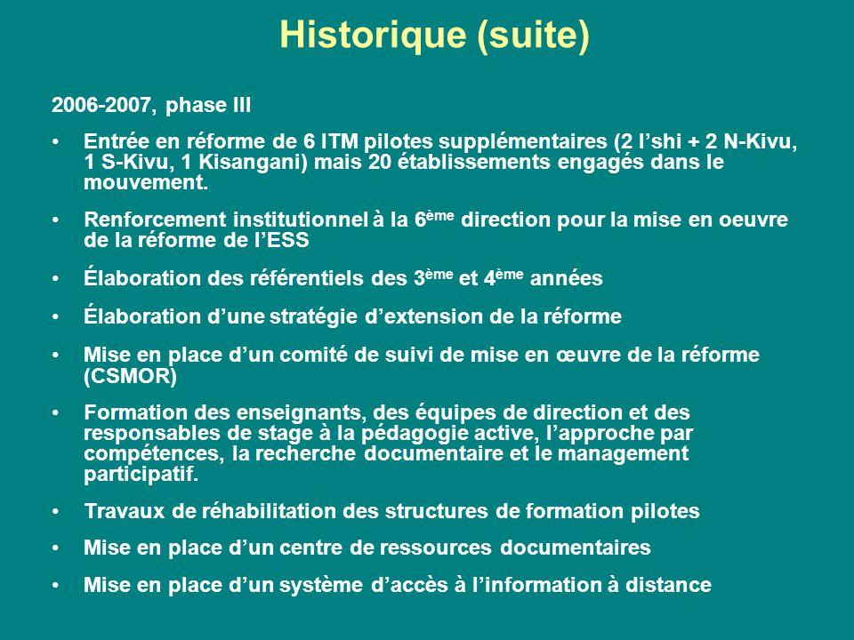 Historique (suite) 2006-2007, phase III