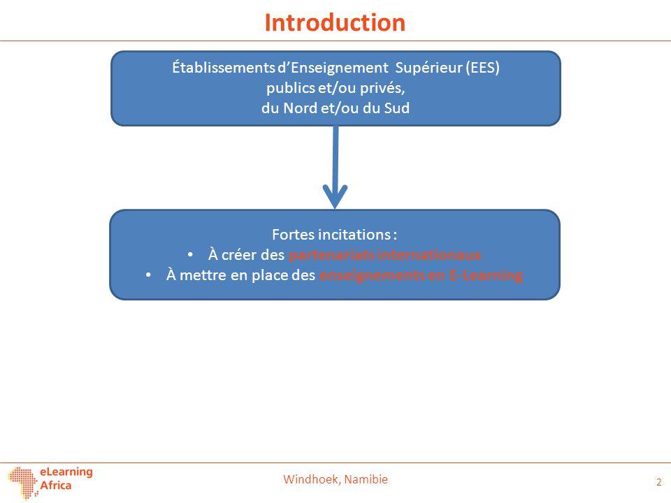 Introduction Établissements d'Enseignement Supérieur (EES)