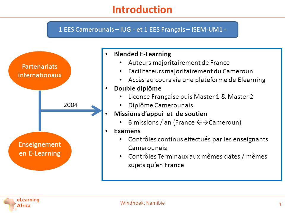 Introduction Enseignement en E-Learning