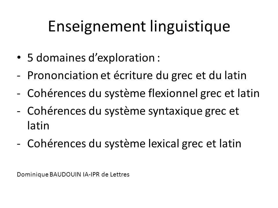 Enseignement linguistique