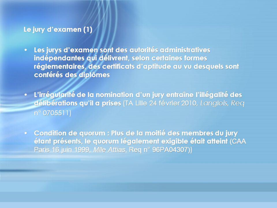 Le jury d'examen (1)