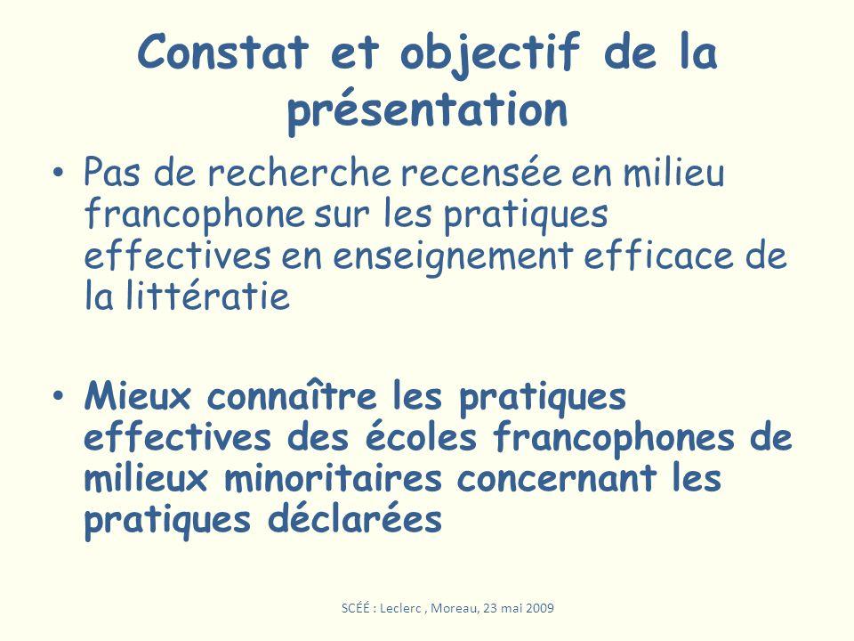 Constat et objectif de la présentation