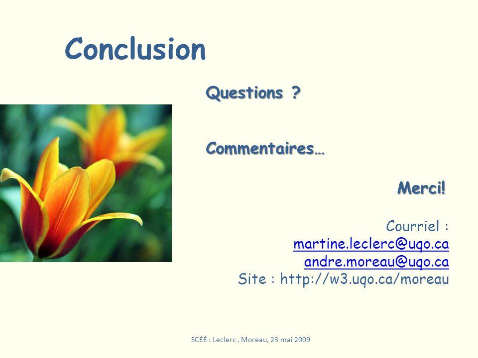 SCÉÉ : Leclerc , Moreau, 23 mai 2009