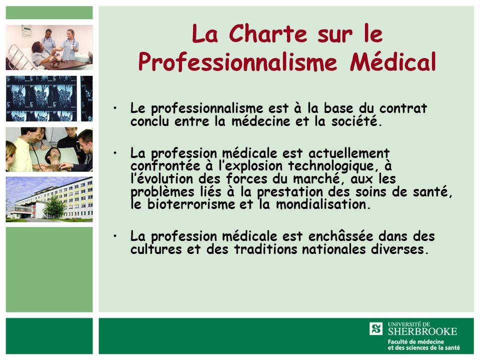 La Charte sur le Professionnalisme Médical