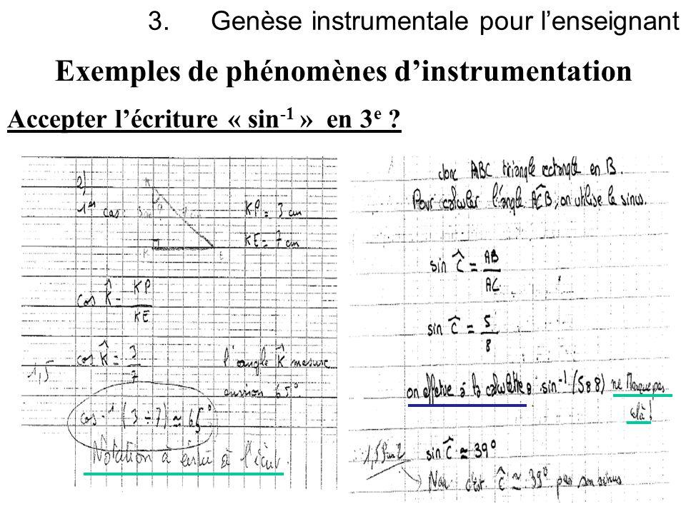 Genèse instrumentale pour l'enseignant