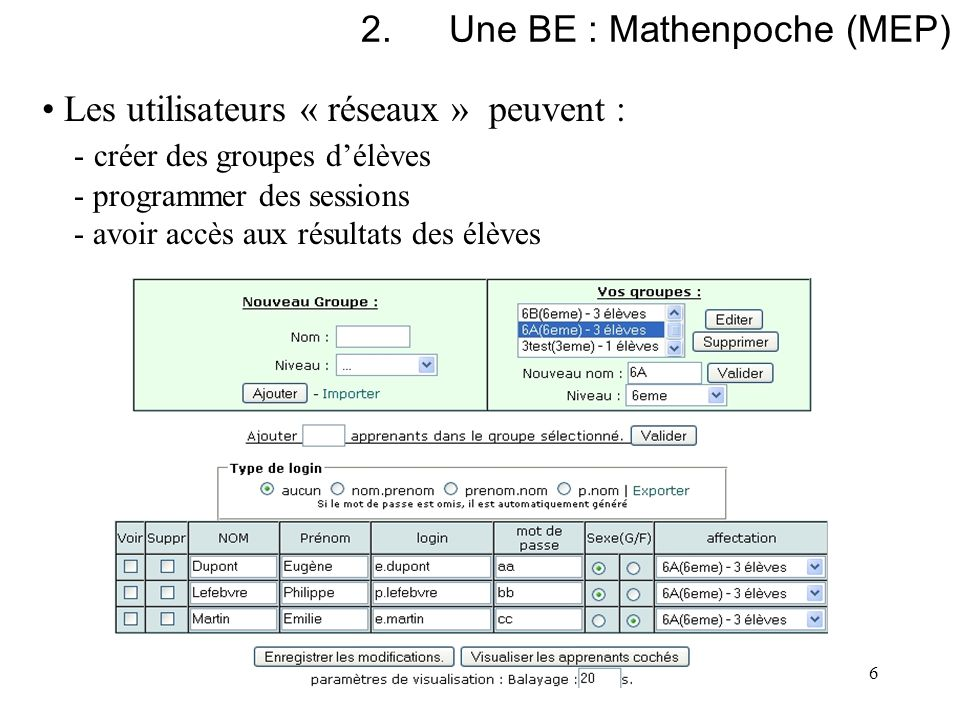 Une BE : Mathenpoche (MEP)