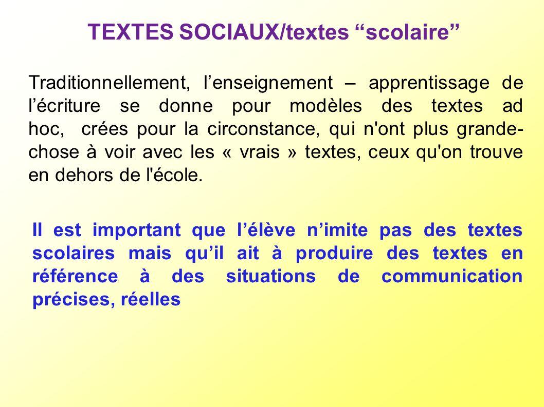 TEXTES SOCIAUX/textes scolaire
