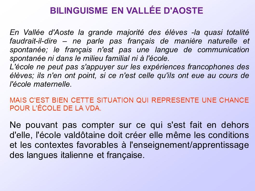 BILINGUISME EN VALLÉE D AOSTE