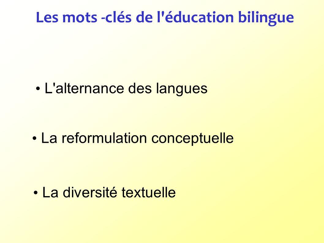 Les mots -clés de l éducation bilingue