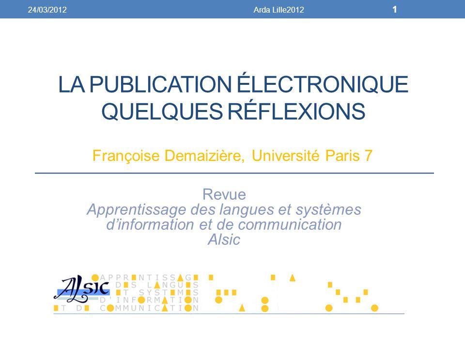 La publication Électronique quelques rÉflexions