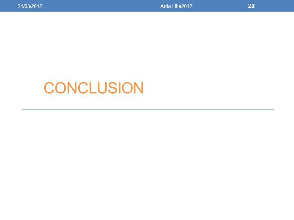 24/03/2012 Arda Lille2012 conclusion