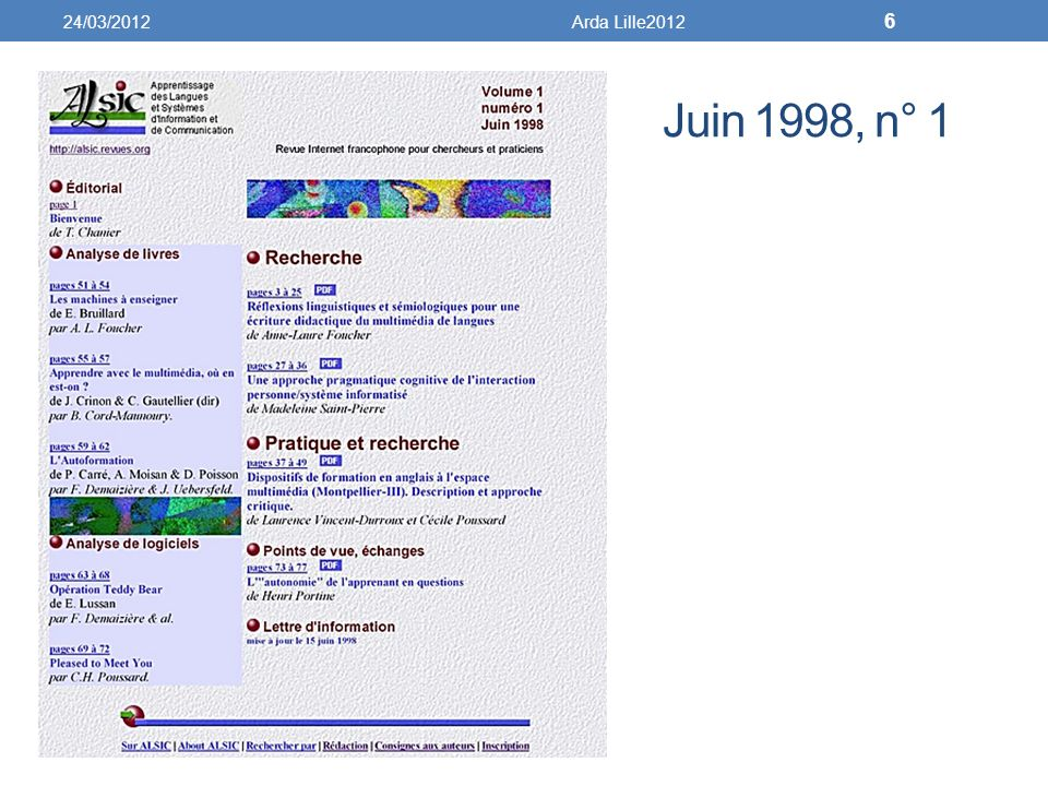 24/03/2012 Arda Lille2012 Juin 1998, n° 1